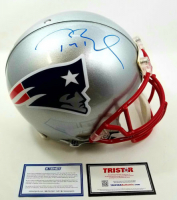 Tom Brady Signed Patriots Full-Size Authentic On-Field Helmet (Steiner COA & Tristar Hologram)