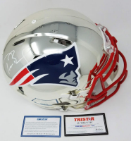 Tom Brady Signed New England Patriots Chrome Full-Size Authentic On-Field Speed Helmet (Steiner COA & TriStar Hologram)