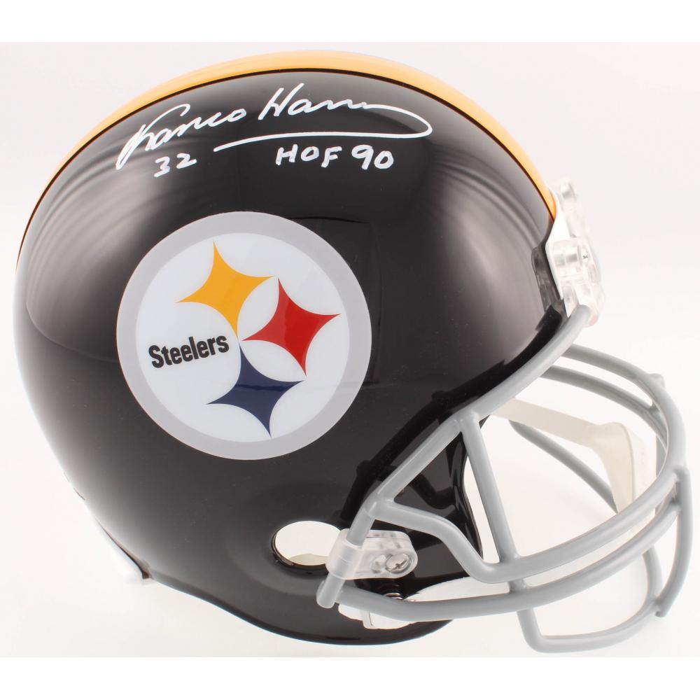 bfa629d92 Franco Harris Signed Steelers Full-Size Helmet Inscribed