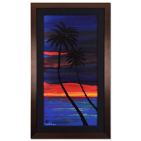 """Wyland Signed """"Perfect Day"""" 21x36 Custom Framed Original Oil Painting on Canvas"""