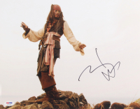 """Johnny Depp Signed """"Pirates of the Caribbean"""" 11x14 Photo (PSA Hologram) at PristineAuction.com"""