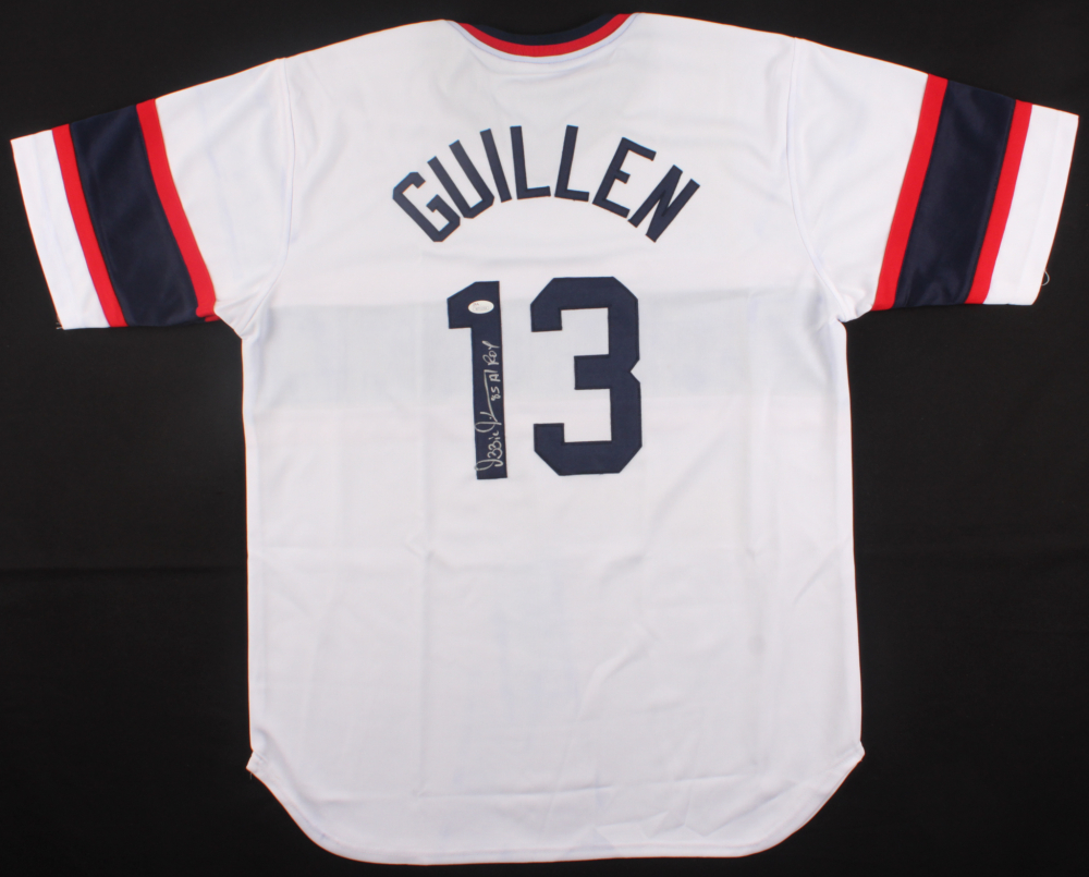 0963bca1791 Ozzie Guillen Signed White Sox Jersey Inscribed