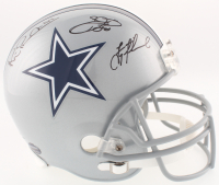 Emmitt Smith, Troy Aikman & Michael Irvin Signed Cowboys Full-Size Helmet (Radtke COA, Prova COA, Aikman & Smith Holograms) at PristineAuction.com
