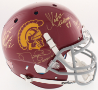 USC Trojans Full-Size Authentic On-Field Helmet Signed by (4) with Charles White, Marcus Allen, Matt Leinart with (4) Heisman Inscriptions (Radtke COA) at PristineAuction.com
