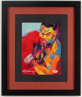 Mike Tyson Signed 16x19 Custom Framed LeRoy Neiman Print (PSA COA)