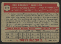 1952 Topps #312 Jackie Robinson at PristineAuction.com