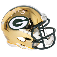 Aaron Rodgers Signed Packers Chrome Mini Helmet (Steiner COA)