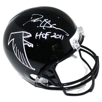 "Deion Sanders Signed Falcons Full Size Throwback Helmet Inscribed ""HOF 11"" (Steiner COA)"