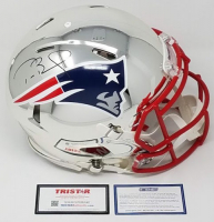 Tom Brady Signed Patriots LE Chrome Full-Size Authentic On-Field Speed Helmet (Steiner COA & Tristar Hologram) at PristineAuction.com