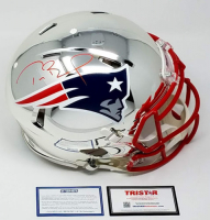 Tom Brady Signed Patriots Limited Edition Chrome Full-Size Authentic On-Field Speed Helmet (Steiner COA & TriStar Hologram)