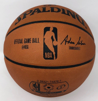 """Stephen Curry Signed LE NBA """"Back to Back Champions"""" Game Ball Series Basketball (Steiner COA) at PristineAuction.com"""