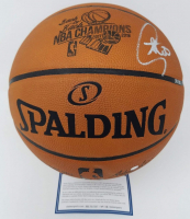 "Stephen Curry Signed LE NBA ""Back to Back Champions"" Game Ball Series Basketball (Steiner COA) at PristineAuction.com"