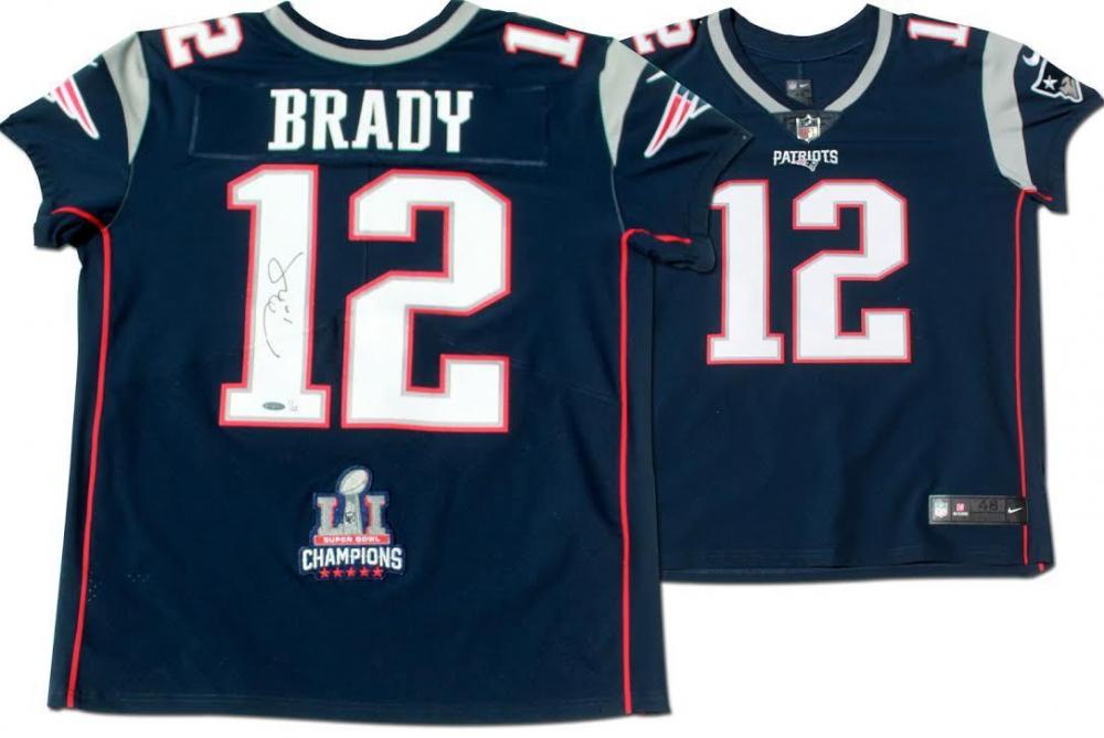 e3ca380b65e Tom Brady Signed Patriots LE Jersey with Super Bowl 51 Patch (TriStar  Hologram) at