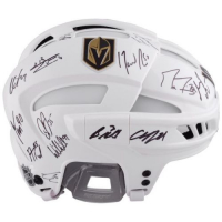 LE James Neal Golden Knights Full-Sized Authentic On-Ice Helmet Team-Signed By (15) With Marc-Andre Fleury, William Karlsson, Jonathan Marchessault, James Neal (Fanatics Hologram) at PristineAuction.com