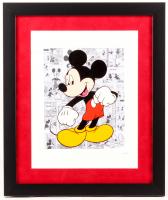 "Walt Disney ""Mickey Mouse"" 16x19 Custom Framed Hand-Painted Animation Cel Display"