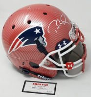Tom Brady Signed Patriots LE Custom Hydro Dipped Red Full-Size Authentic  On-Field