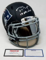 "Tom Brady Signed LE Patriots Custom Black Matte Full-Size Authentic On-Field Helmet Inscribed ""17 NFL MVP""  (Steiner COA & TriStar Hologram)"