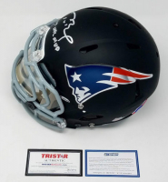 "Tom Brady Signed LE Patriots Custom Black Matte Full-Size Authentic On-Field Helmet Inscribed ""17 NFL MVP""  (Steiner COA & TriStar Hologram) at PristineAuction.com"