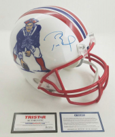 Tom Brady Signed LE Patriots Throwback Full-Size Helmet (Steiner COA & Tristar Hologram)