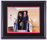 Mikhail Gorbachev Signed 12x14 Custom Framed Photo (Online Authentics COA)