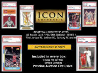 ICON AUTHENTIC BASKETBALL ALL ROOKIE CARD MYSTERY BOX-1 Mega Hit Per Box at PristineAuction.com