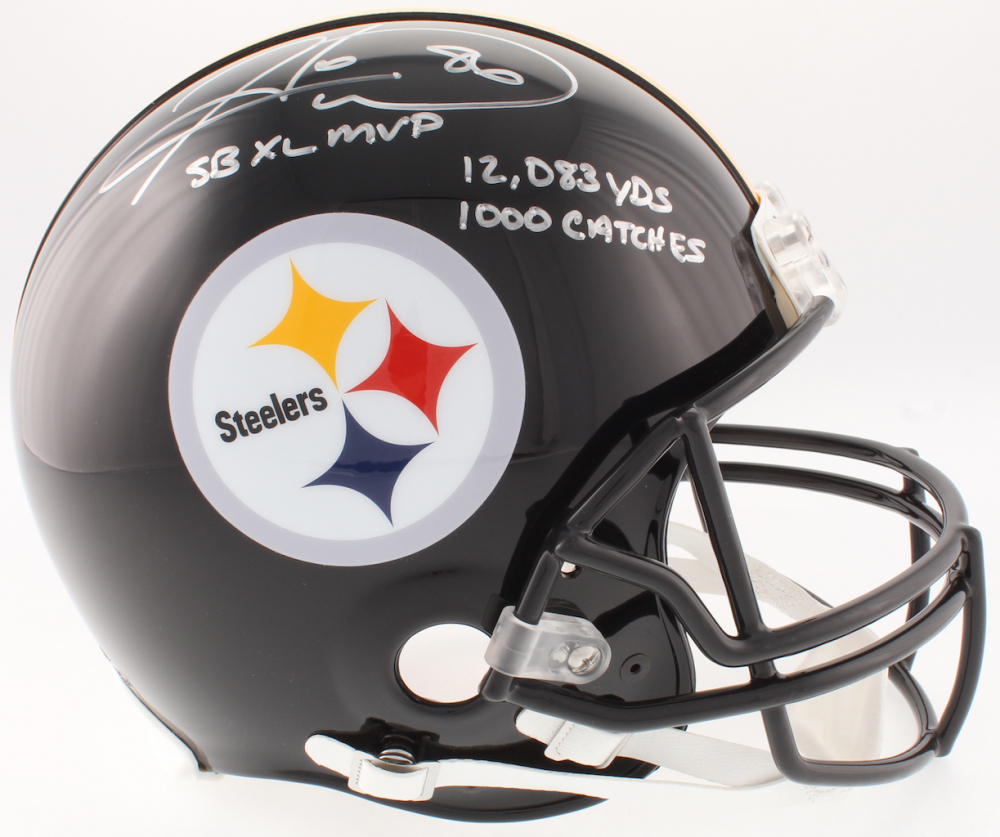 9016fc26980 Hines Ward Signed Steelers Full-Size On-Field Helmet Inscribed