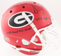 "Nick Chubb & Sony Michel Signed Georgia Bulldogs Full-Size On-Field Helmet Inscribed ""3638 Rush Yds"", ""4769 Rush Yards"" & NCAA Record Rush Yards"" (JSA COA) at PristineAuction.com"