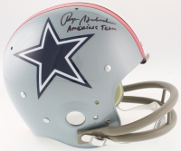 """Roger Staubach Signed Cowboys Full-Size Throwback Suspension Helmet Inscribed """"America's Team"""" (JSA COA) at PristineAuction.com"""