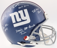 Michael Strahan Signed Giants Full-Size On-Field Helmet with (5) Inscriptions (JSA COA) at PristineAuction.com