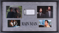 "Dustin Hoffman Signed ""Rain Man"" 19.5x34.5 Custom Framed Index Card Display (PSA Encapsulated)"