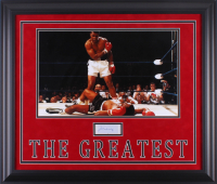 Muhammad Ali Signed 23.5x27.5 Custom Framed Pamphlet Display (JSA LOA)