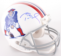 Tom Brady Signed Patriots Full-Size On-Field Throwback Helmet (Tristar Hologram) at PristineAuction.com