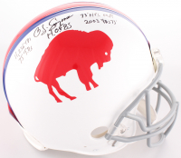 O.J. Simpson Signed Buffalo Bills Full-Size On-Field Throwback Helmet with (5) Inscriptions (JSA COA) at PristineAuction.com