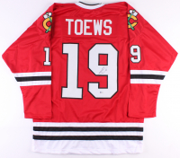 Jonathan Toews Signed Blackhawks Jersey (Beckett COA)