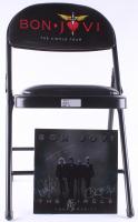 "Bon Jovi ""The Circle"" Booklet Band-Signed by (4) with Bon Jovi, Richie Sambora, David Bryan, & Tico Torres with Custom Folding Chair (JSA LOA)"