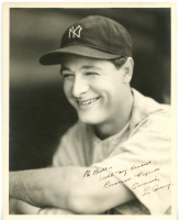 "Lou Gehrig Signed Yankees 8x10 Photo Inscribed ""With My Kindest Personal Regards"" & ""Cordially"" (JSA LOA)"