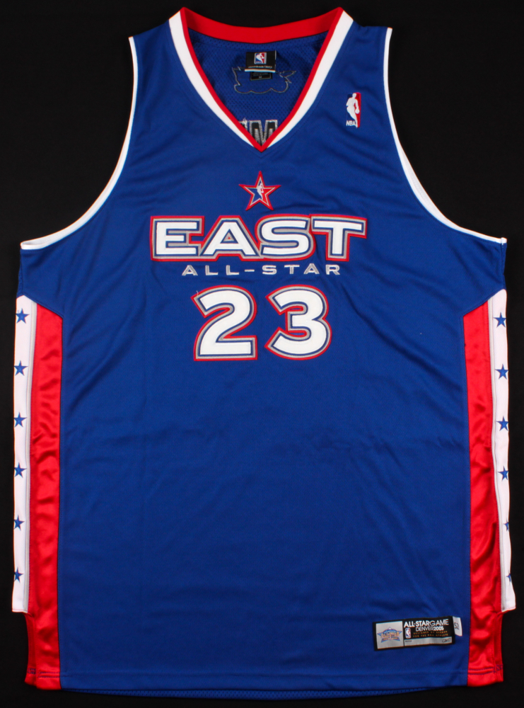 7e8be2dd7bff LeBron James Signed LE Cavaliers All-Star East Highlight Stat Jersey (UDA  COA)