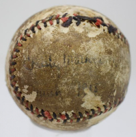 "Christy Mathewson Signed Red & Black Stitched Baseball Inscribed ""March 1918"" (JSA LOA)"