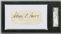 Cap Anson Signed Cut on 3x5 Card (SGC Encapsulated)