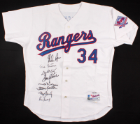 Hall of Famers LE Rangers Ryan Jersey Signed by (8) with Nolan Ryan, Roger Clemens, Don Sutton, Gaylord Perry (TriStar Hologram & MLB Hologram)