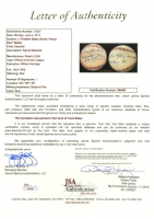 "J. Franklin ""Home Run"" Baker Signed OAL Baseball with (3) Inscriptions with Display Case (JSA LOA) at PristineAuction.com"