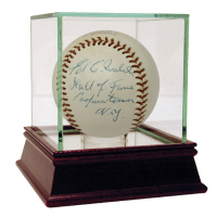 "Ed Walsh Signed Baseball Inscribed ""Hall of Fame Cooperstown N.Y."" with Display Case (JSA LOA)"