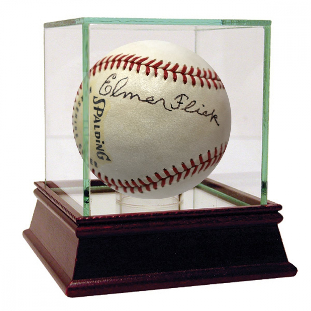 Elmer Flick Signed Littile League Baseball with Display Case (PSA LOA) at PristineAuction.com