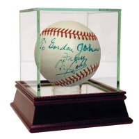 Ty Cobb Signed OAL Baseball with Display Case (PSA LOA)