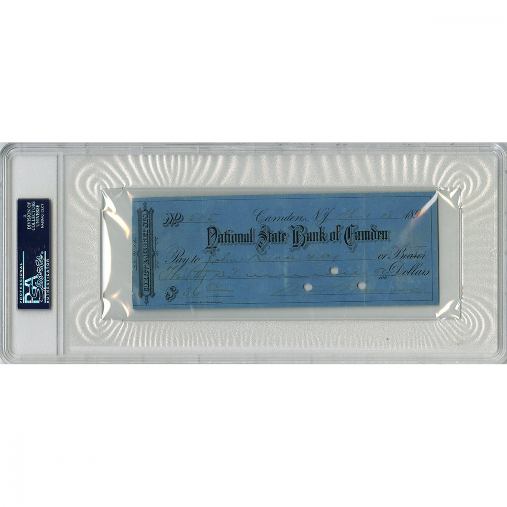 John Montgomery Ward Signed Personal Bank Check (PSA Encapsulated) at PristineAuction.com
