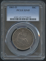 1861-O 50¢ Seated Liberty Half Dollar (PCGS XF 45) at PristineAuction.com
