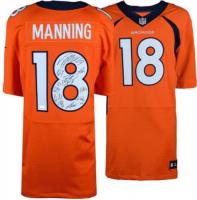 Payton Manning Broncos Nike Jersey Team-Signed By (11) With Peyton Manning, Von Miller, Emmanuel Sanders, DeMarcus Ware, TJ Ward (Fanatics Hologram) at PristineAuction.com