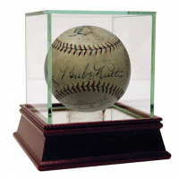 1928 New York Yankees Team-Signed OAL Baseaball with (17) Signatures Including Babe Ruth, Lou Gehrig, Tony Lazzeri, Waite Hoy, Earle Combs (JSA & PSA LOA)