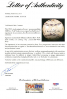 1928 New York Yankees Team-Signed OAL Baseaball with (17) Signatures Including Babe Ruth, Lou Gehrig, Tony Lazzeri, Waite Hoy, Earle Combs (JSA & PSA LOA) at PristineAuction.com