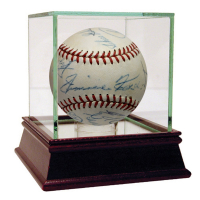 Baseball Hall of Famers Signed ONL Baseaball with (13) Signatures Including Jimmy Foxx, Cy Young, Mel Ott, Ty Cobb, Rogers Hornsby, Tris Speaker (JSA LOA)